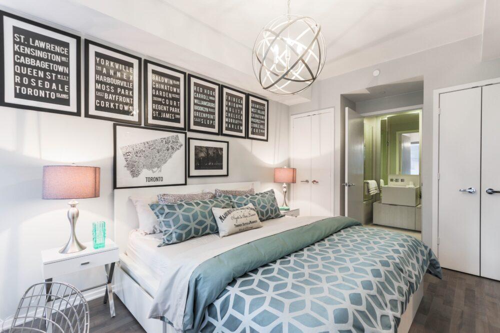 inbjudande sovrum efter storstädning