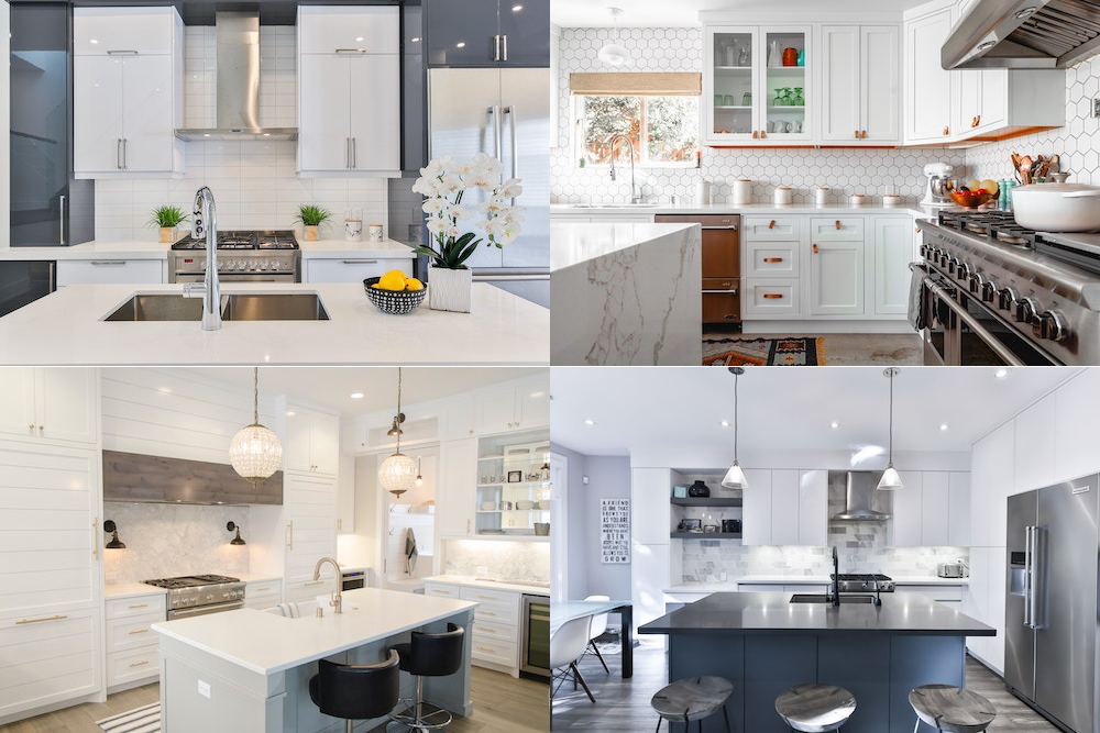 Kitchen renovation with different types of kitchen designs