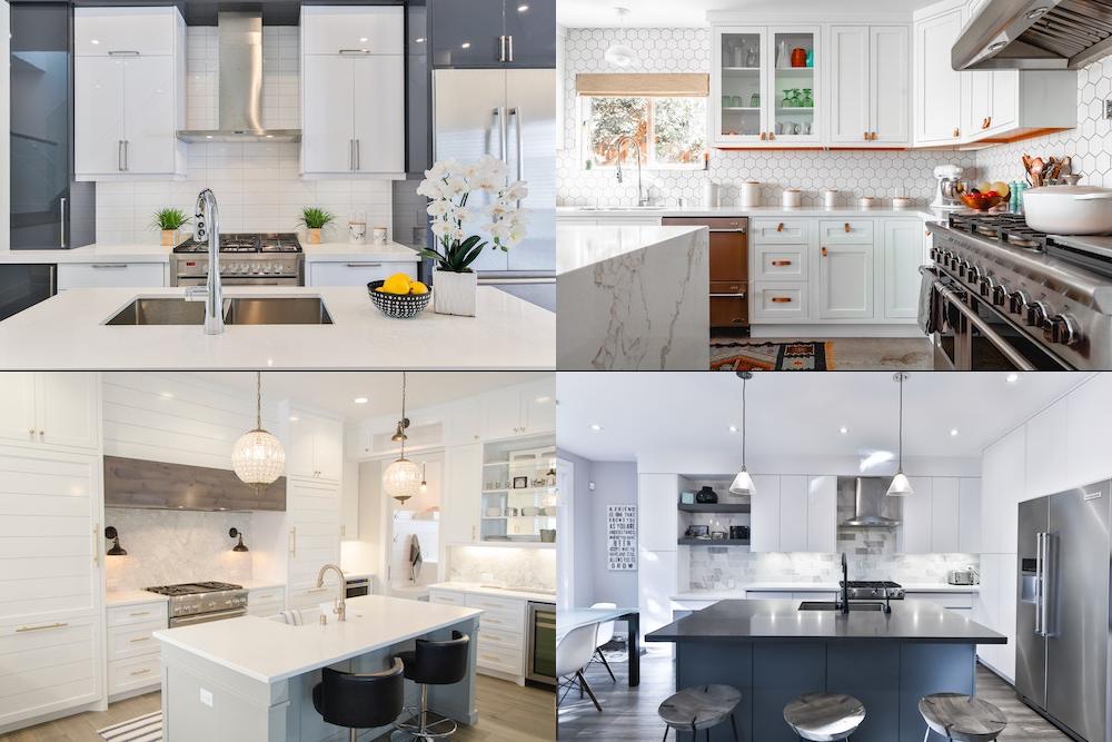Köksrenovering med olika typer av design på kök