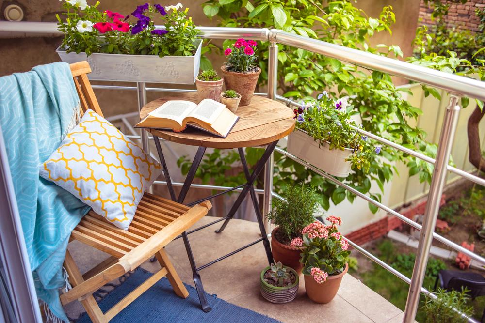 trädgårdsfix blommor i balkonglådor