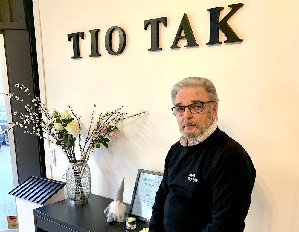 Takläggning Kenneth på TioTak